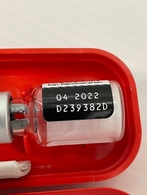 APPENDIX A: The Lot Number is found on thekit and viallabelsas can be seen in the example label above.