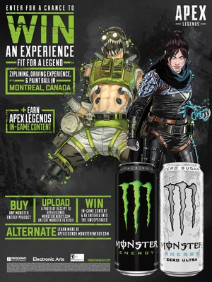 Monster Energy Partners with Apex Legends for Limited Time Exclusives