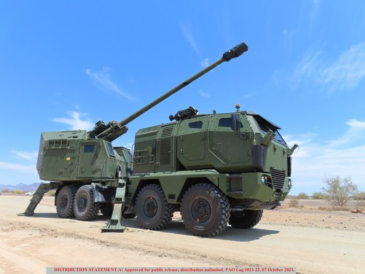 Nora B-52 M21 During U.S. Army Testing at Yuma Proving Grounds in July 2021
