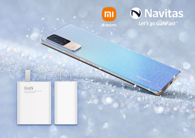 Xiaomi's new Civi mobile phone uses Navitas Semiconductor's gallium nitride (GaN) GaNFast(TM) power ICs in slimline, featherweight, ultra-portable 55W fast-charger.