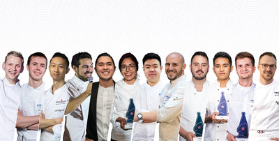 The 12 regional winners that will compete for the title of S.Pellegrino Young Chef Academy 2021 global winner. (PRNewsfoto/Sanpellegrino Group)